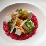 Beetroot Risotto With Hazelnuts